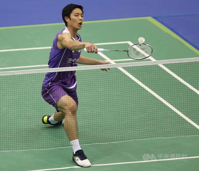周天成(圖)8日在馬來西亞羽球大師賽首輪擊退印度選手斯里坎特,僅花30分鐘挺進16強。(中央社檔案照片)