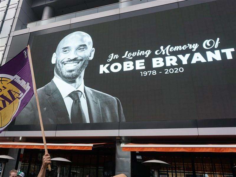 美國職籃NBA洛杉磯湖人隊傳奇球星布萊恩26日搭乘私人直升機失事身亡,享年41歲。中央社記者林宏翰洛杉磯攝 109年1月27日