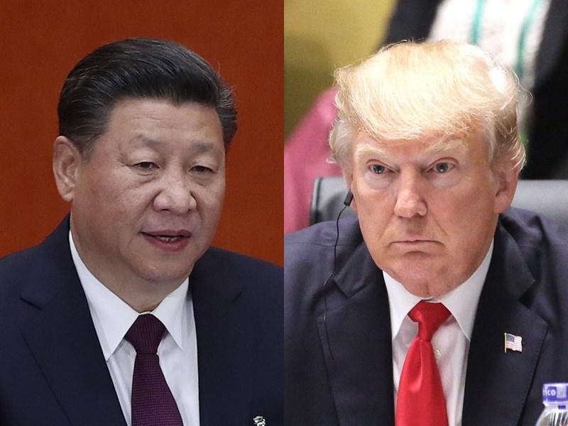 美國總統川普(右)23日表示,他已和中國國家主席習近平(左)通電話談論武漢肺炎疫情,還說他對中國缺乏合作「有點失望」。(左圖為中新社提供、右圖為中央社檔案照片)