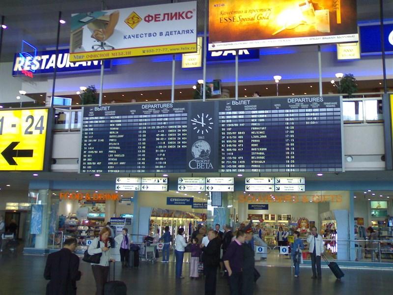 俄羅斯主管當局表示,俄國將從20日起禁止中國公民入境,不過這項措施是暫時性的。圖為俄羅斯謝列梅捷沃國際機場大廳。(圖取自維基共享資源網頁,版權屬公有領域)