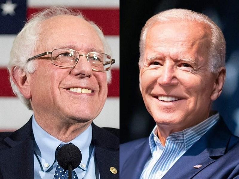 美國「超級星期二」民主黨14州聯合初選登場,根據出口民調估計,溫和派參選人、前副總統拜登(右)囊括8州選票,而原聲勢領先的桑德斯(左)則拿下2州。(左圖取自facebook.com/berniesanders、右圖取自facebook.com/joebiden)