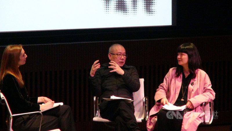 第二屆英國台灣影展於6日、7日在泰特現代美術館放映台灣影像藝術家陳界仁(中)多部作品,並舉辦大師班工作坊。中央社記者戴雅真倫敦攝 109年3月8日
