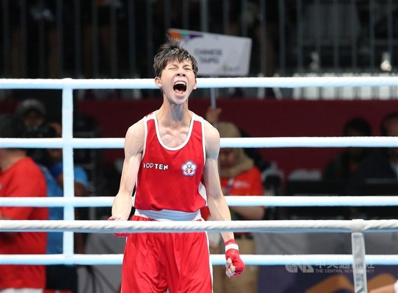 台灣拳擊女將林郁婷(圖)9日在奧運拳擊亞大區資格賽女子57公斤量級8強賽晉級4強,替台灣再添一張東京奧運門票。(中央社檔案照片)