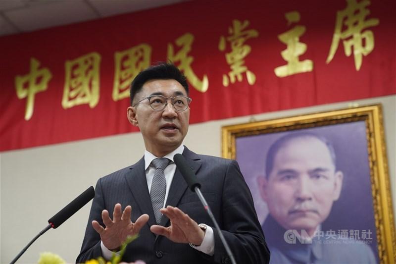 國民黨主席江啟臣17日表示,對國民黨來說,中國就是中華民國,他在台灣出生長大,他是台灣人,從文化、歷史來看,他也是中國人。(中央社檔案照片)