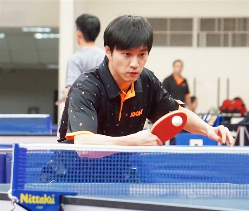 桌球名將江宏傑(圖)的經紀人3月22日表示,江宏傑2月赴日參加聯賽,卻因武漢肺炎疫情影響,至今仍未返台。(中央社檔案照片)