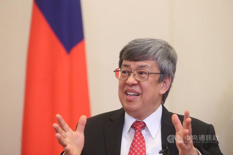 副總統陳建仁(圖)24日接受中央社專訪時說,在武漢肺炎防疫上,台灣能夠比其他國家稍微好一點,主要是因為有SARS的經驗。中央社記者吳家昇攝 109年3月24日