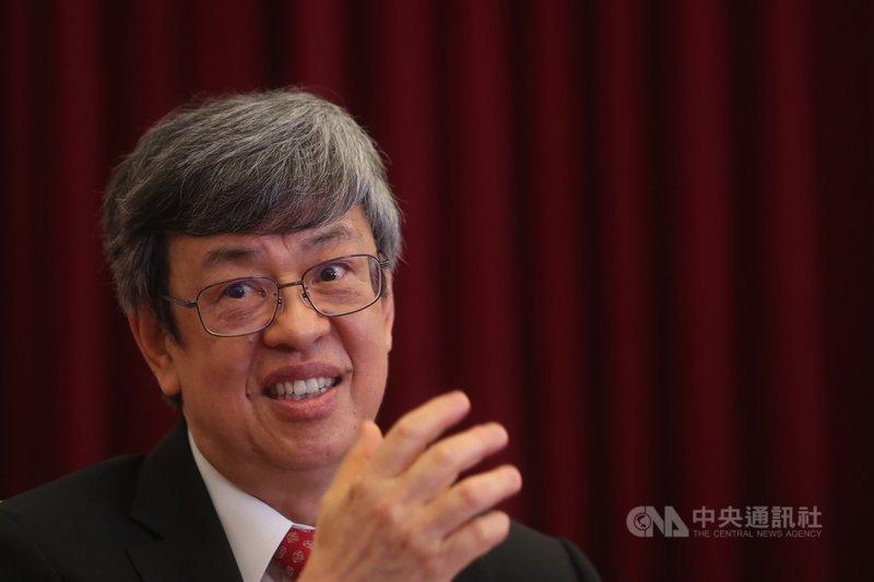 副總統陳建仁(圖)接受中央社專訪時說,武漢肺炎快篩工具3個月內有望量產。中央社記者吳家昇攝 109年3月25日