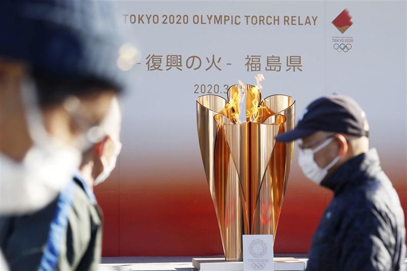 日本東京奧運確定將延期一年左右,東奧聖火現階段將暫時放在福島縣。(共同社提供)