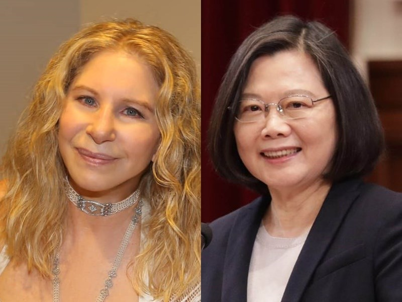 美國藝人芭芭拉史翠珊(左)5日在推特高度肯定台灣防疫成績,總統蔡英文(右)隨後也轉推這則推文並說,台灣相當樂意與世界各地的朋友分享經驗。(左圖取自facebook.com/barbrastreisand;右圖為中央社檔案照片)