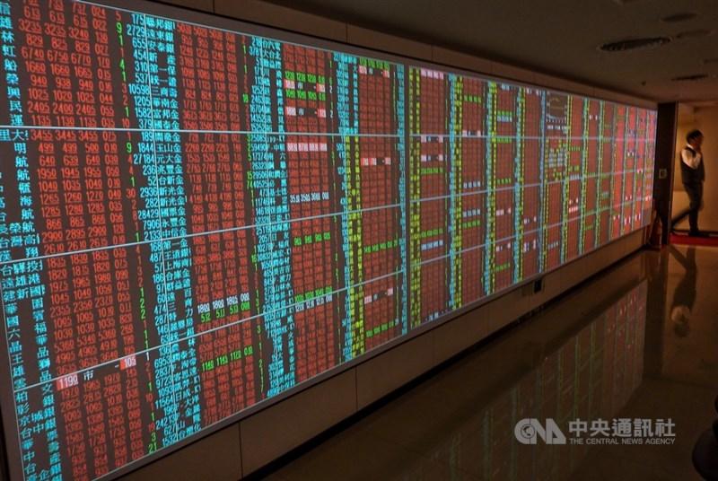 美股道瓊指數大漲逾550點,台股15日在傳統產業、電子與金融類股齊揚帶動下,指數一度大漲超過100點,回補3月13日的空方缺口。(中央社檔案照片)