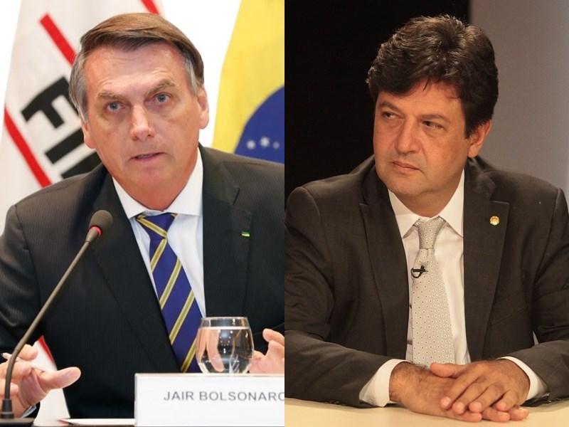 巴西總統波索納洛(左)16日開除衛生部長曼德塔(右),因為雙方在抗疫期間對防疫措施意見相左。(左圖取自facebook.com/jairmessias.bolsonaro、右圖取自twitter.com/lhmandetta)