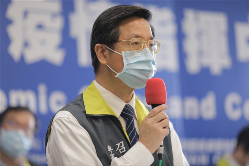 有報導指腳有水泡可能是武漢肺炎症狀之一,中央流行疫情指揮中心專家諮詢小組召集人張上淳23日說,台灣確實有部分患者身體出現水泡。(疫情指揮中心提供)