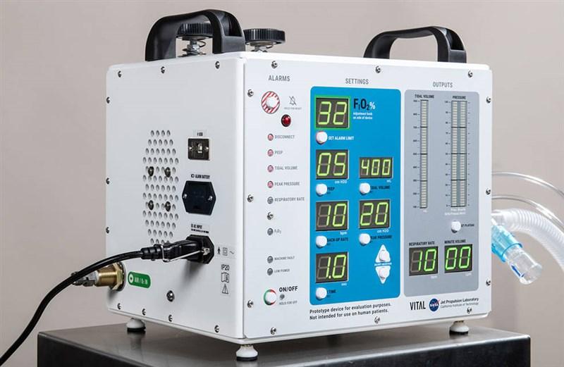 美國國家航空暨太空總署花費37天為武漢肺炎病患開發一款新型高壓呼吸器原型機,本週已通過關鍵測試。(圖取自NASA官方網頁nasa.gov)