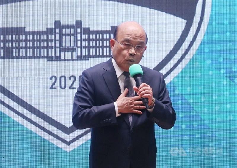 行政院長蘇貞昌10日表示,28天零本土確診案例,象徵台灣已守住社群感染的防線,許多活動限制將逐漸鬆綁。(中央社檔案照片)
