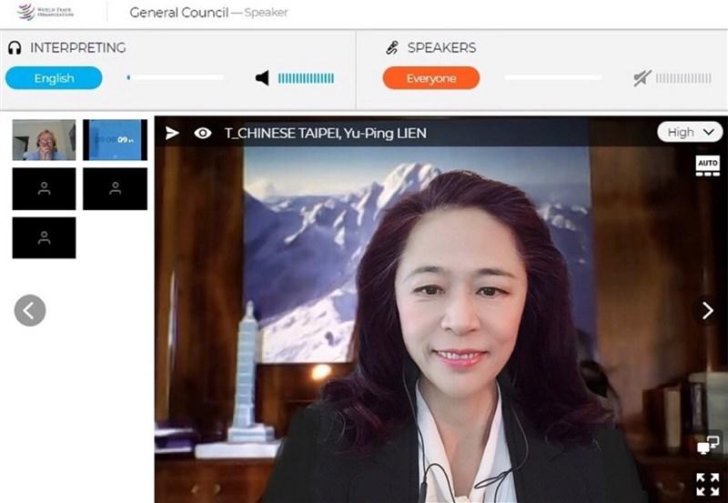 中華民國常駐世界貿易組織代表團團長連玉蘋上月29日在總理事會發言,表達協助各國抗疫的意願。(駐WTO代表團提供)中央社記者林育立柏林傳真 109年6月4日