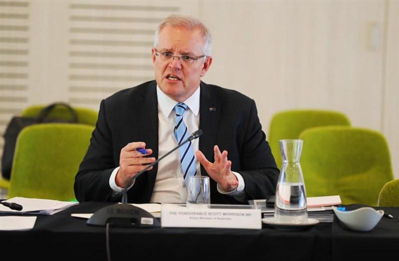 澳洲總理莫里森11日受訪時被問到,澳洲是否會因主要貿易夥伴中國的施壓而在出口方面蒙受損失。他表示,他不會因脅迫而屈服改變價值觀。(圖取自facebook.com/scottmorrison4cook)