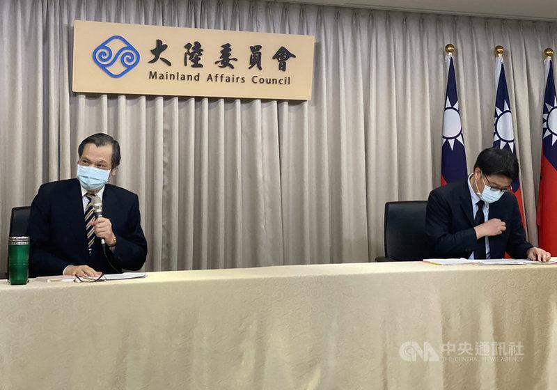 陸委會主委陳明通18日下午在例行記者會宣布,針對「香港人道援助關懷行動專案」,設立「台港服務交流辦公室」,並在7月1日正式營運。中央社記者賴言曦攝 109年6月18日
