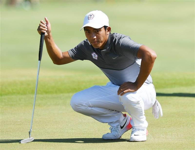 旅美高球好手潘政琮尋求PGA美國高爾夫職業巡迴賽的RBC傳承高球賽衛冕,21日在第3輪繳出70桿。(中央社檔案照片)
