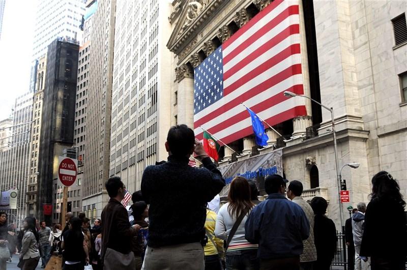 圖為美國紐約證券交易所。(中央社檔案照片)