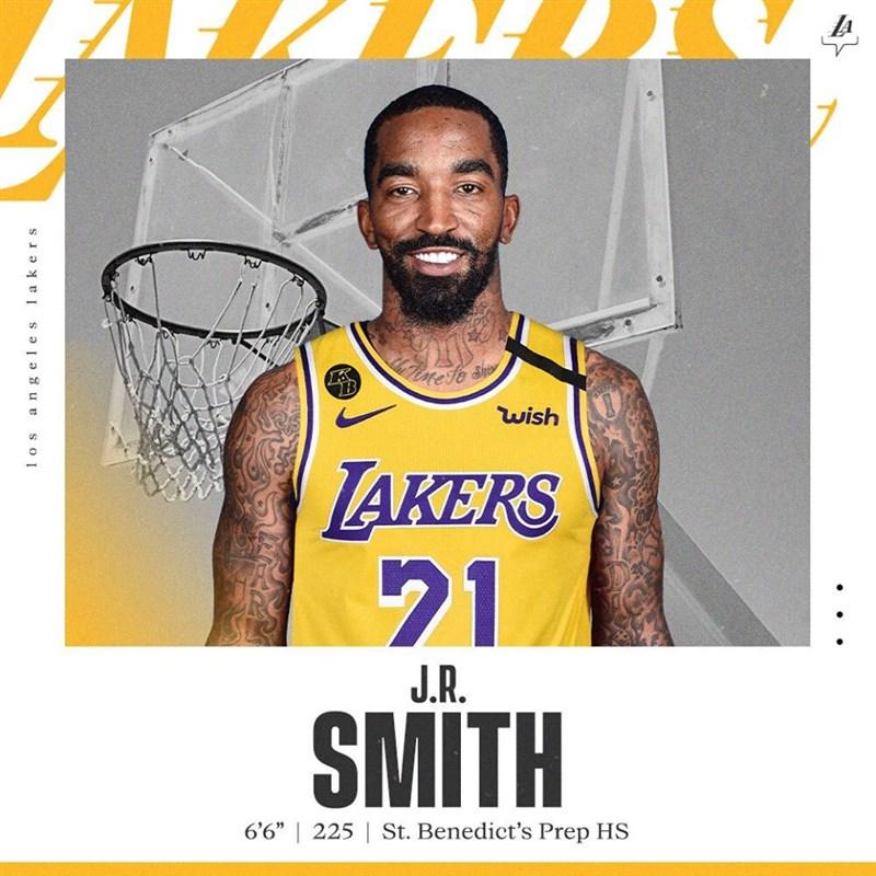 美國職籃NBA自由球員「神經刀」史密斯已與洛杉磯湖人簽約,將在NBA復賽時披上紫金球衣。(圖取自facebook.com/losangeleslakers)