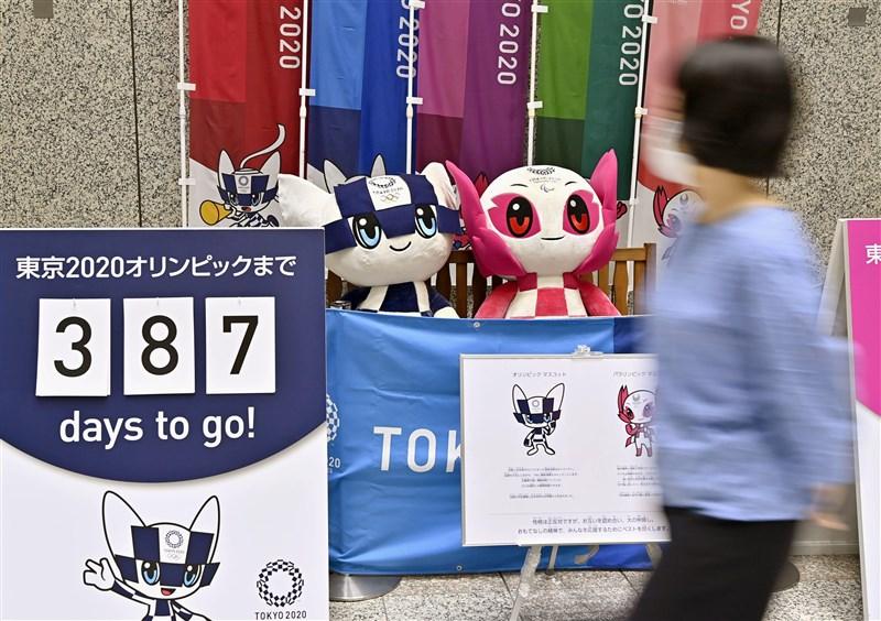 東京奧運原定這個月下旬舉辦,但因為爆發武漢肺炎疫情,日本與國際奧林匹克委員會3月宣布延期至2021年舉辦。(檔案照片/共同社提供)