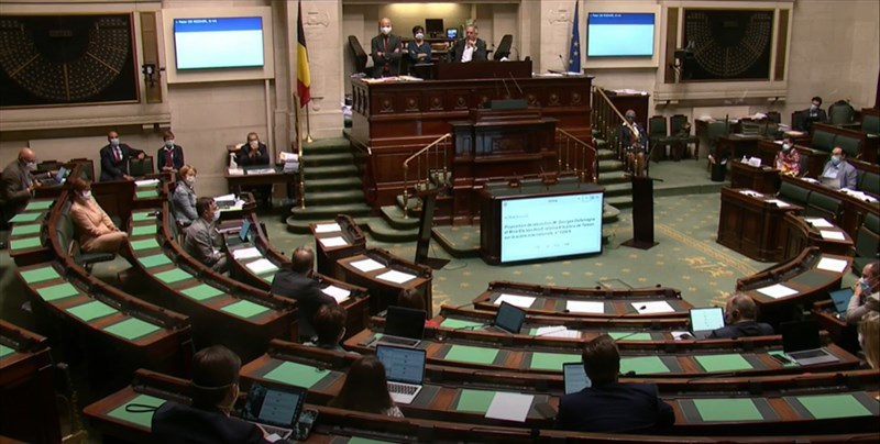 比利時聯邦眾議院16日以壓倒性票數通過挺台決議案,呼籲比國政府支持台灣民主發展及國際參與。(圖取自比利時聯邦眾議院網頁dekamer.be)