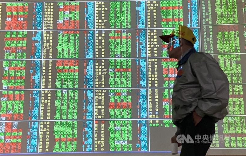 台股3日開低走低,指數一度大跌288點,跌破17300點關卡。(中央社檔案照片)