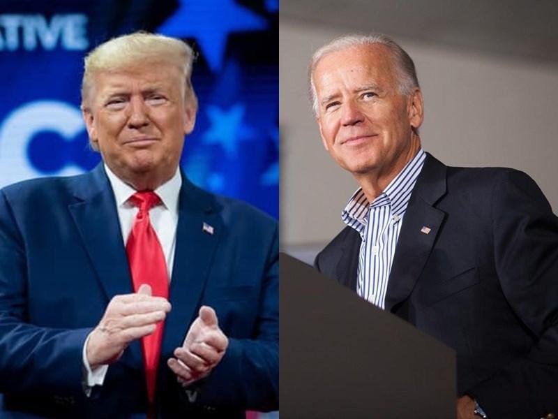 2020年美國總統大選進入倒數100天,最新民調顯示,2016年助川普(左)勝出的3個關鍵州,全都落後給民主黨的拜登(右)。(左圖取自facebook.com/DonaldTrump,右圖取自facebook.com/joebiden)