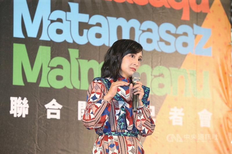 原住民族主題展28日在台北開幕,封面人物、布農族醫師田知學(Valis Tanapima)分享自身經驗,她提到,一次在台北被人用英語問候,讓她發現要裝作混血兒,才能獲得認同。中央社記者郭日曉攝  109年7月28日