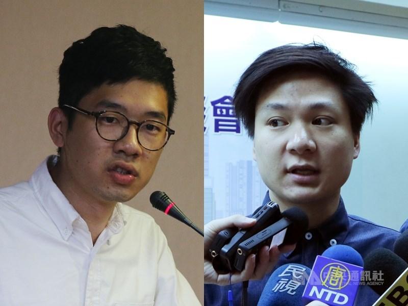 港媒報導,香港警方正式通緝6名流亡海外的港人,包括羅冠聰(左)、陳家駒(右);警方指其涉嫌「煽動分裂國家」。(中央社檔案照片)