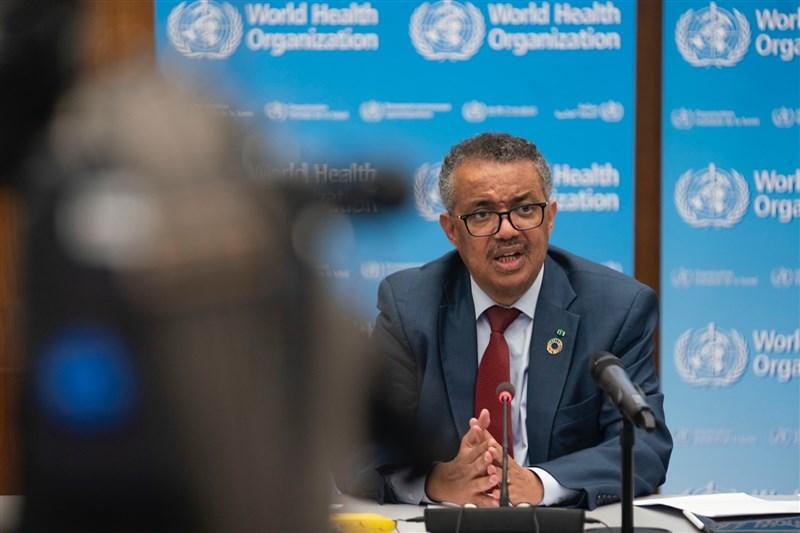 世界衛生組織1日宣布,維持2019冠狀病毒疾病為「國際關注公共衛生緊急事件」。圖為世衛秘書長譚德塞。(圖取自twitter.com/WHO)