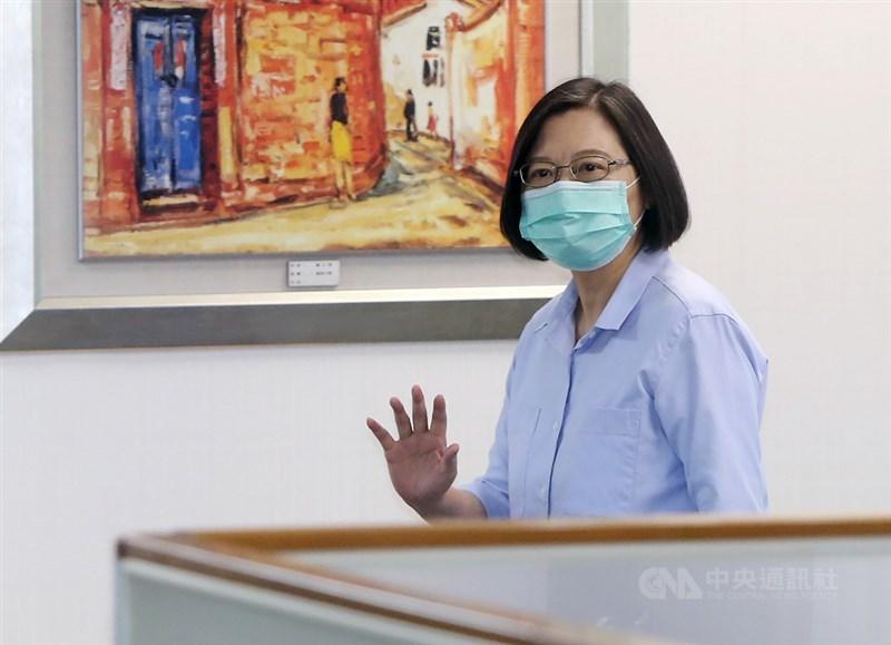 總統兼民進黨主席蔡英文(圖)5日表示,民進黨用了8年甩去「貪腐」標籤,若無自覺,2024政權延續將是艱難挑戰。(中央社檔案照片)