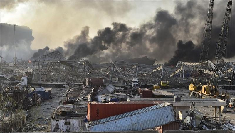 黎巴嫩首都貝魯特市中心附近4日發生大爆炸,造成嚴重傷亡,爆炸威力強大,全市都感受到震波。(安納杜魯新聞社)
