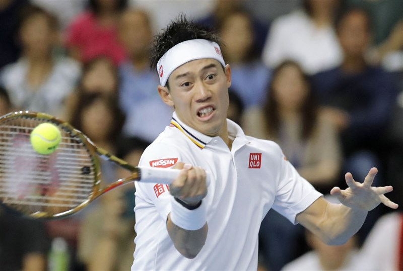 日本男網好手錦織圭16日表示,他待在佛羅里達州期間進行武漢肺炎檢測,結果呈現陽性反應。(共同社)