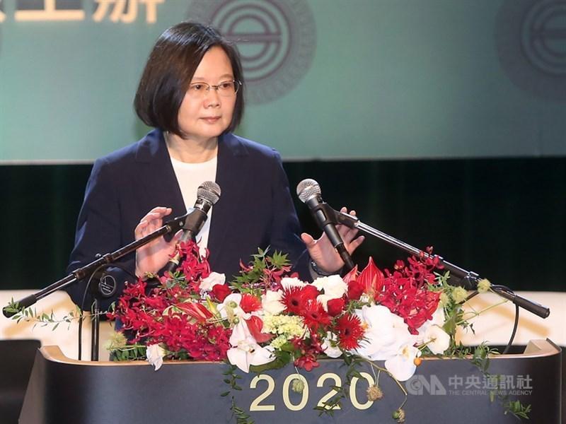 總統蔡英文25日表示,台美密切夥伴關係讓雙方有機會提議洽簽雙邊貿易協定。(中央社檔案照片)