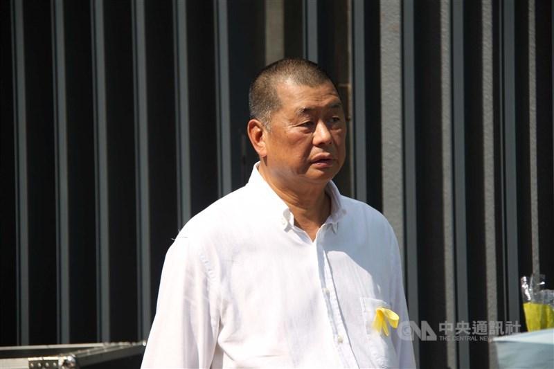 壹傳媒創辦人黎智英(圖)、集團總裁周達權、行政總監黃偉強等3人被控詐騙罪,2日中午到警署返回報到。據香港01等港媒報導,3人被通宵扣留。(中央社檔案照片)