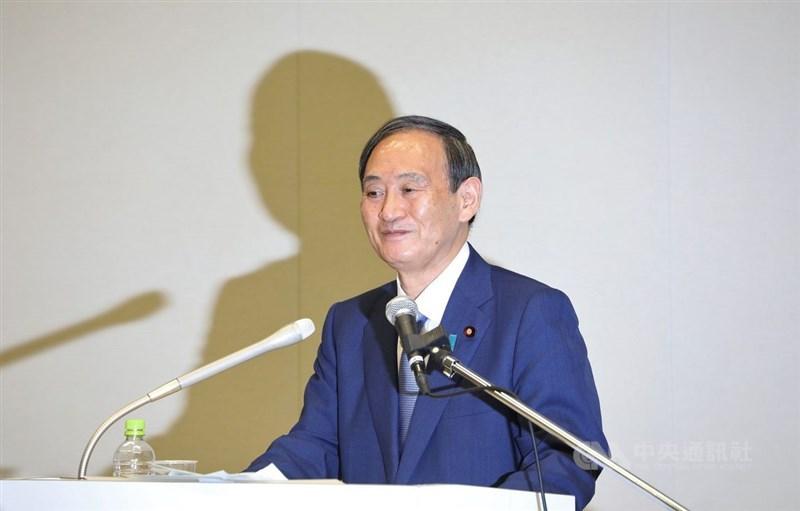 日本朝日新聞社近日電話民調結果顯示,38%民眾認為菅義偉最適合當安倍的接班人。中央社記者楊明珠東京攝 109年9月2日