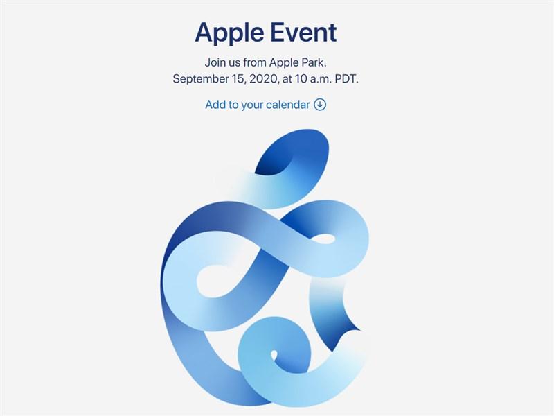 蘋果公司將於台灣時間9月16日凌晨1時舉辦線上活動,從邀請函樣式(圖)來看,可能發表外傳的「海軍藍」色iPhone 12手機。(圖取自蘋果網頁apple.com)