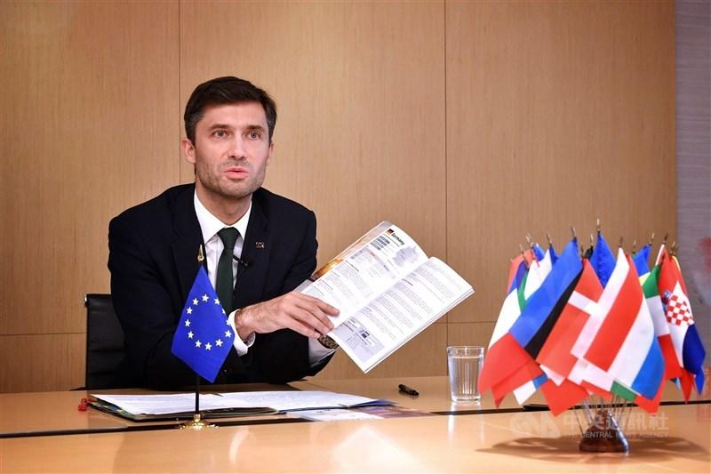 歐洲聯盟提出「印太地區合作戰略」,正視印太地區重要性日益提升,但全文未提台灣;歐盟駐台代表高哲夫(圖)20日表示,在他看來,文件處處是歐盟與台灣合作的機會。(中央社檔案照片)