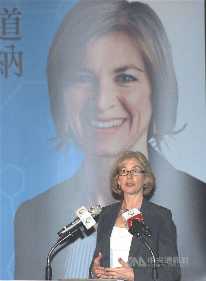 國際知名RNA結構生物學家、美國國家科學院院士珍妮 佛.道納(Jennifer A. Doudna)(圖)獲第二屆唐獎 生醫獎,26日在台北醫學大學舉行講座,發表專題演講 。 中央社記者施宗暉攝 105年9月26日