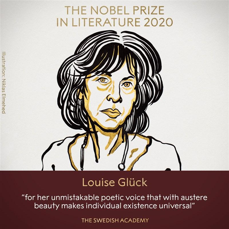 2020年諾貝爾文學獎得主8日揭曉,由美國詩人葛綠珂獲得殊榮。(圖取自twitter.com/nobelprize)