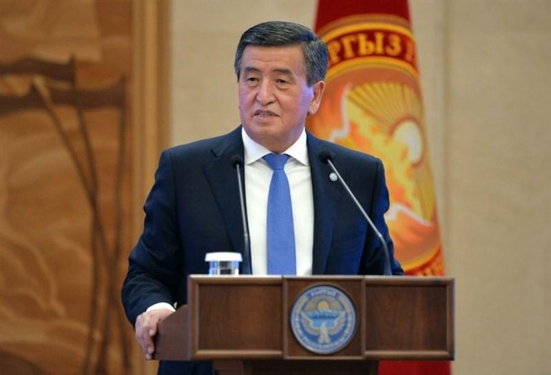 吉爾吉斯總統秦貝科夫(圖)9日在個人官網刊出的講稿表示,他「準備辭職」,以終結吉爾吉斯陷入的選後混亂。(圖取自吉爾吉斯總統官方網頁president.kg)