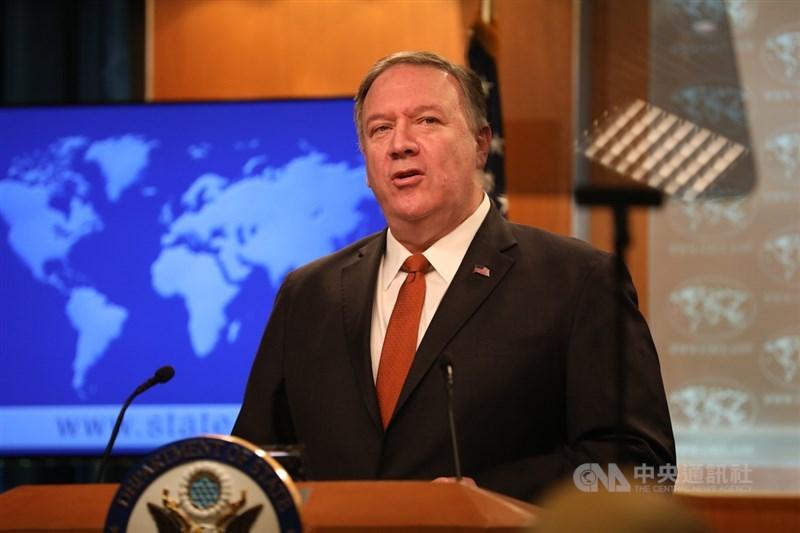 美國內部呼籲政府明確承諾防衛台灣聲浪漸漲,國務卿蓬佩奧9日表示,美方追求的是和平,但仍會致力履行所有對台義務。(中央社檔案照片)