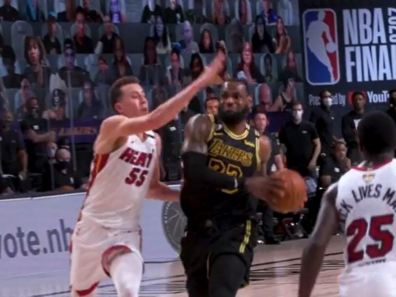 美國職籃NBA公布總冠軍賽第5戰裁判報告,針對比賽最後2分鐘內的吹判進行檢討,其中有2次漏判都對洛杉磯湖人不利。(圖取自instagram.com/lakers)