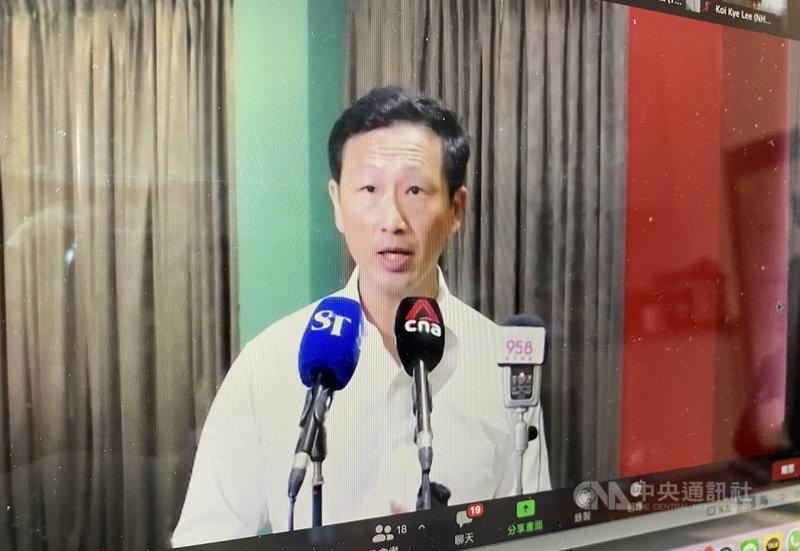 新加坡交通部長王乙康15日宣布,新加坡與香港將推行「安全旅行圈」(旅遊泡泡)。中央社記者侯姿瑩新加坡攝 109年10月15日