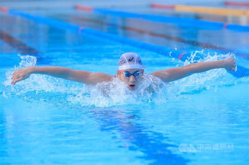 「台灣蝶王」王冠閎18日凌晨在國際游泳聯盟(ISL)200公尺蝶式,飆出1分50秒79,再度改寫個人紀錄。(中央社檔案照片)