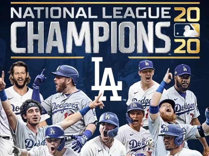 道奇18日克服在國聯冠軍系列賽1勝3負的劣勢,最終4勝3敗逆轉淘汰勇士,4年內3度闖進MLB世界大賽。(圖取自.instagram.com/dodgers)