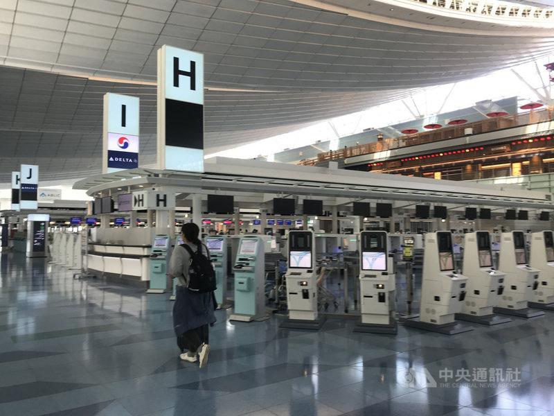 日本計劃開放72小時超短期商務人士入境,無須14天隔離,當中包括台灣、中國、韓國。圖為9月18日東京羽田國際機場。中央社記者楊明珠東京攝  109年10月22日