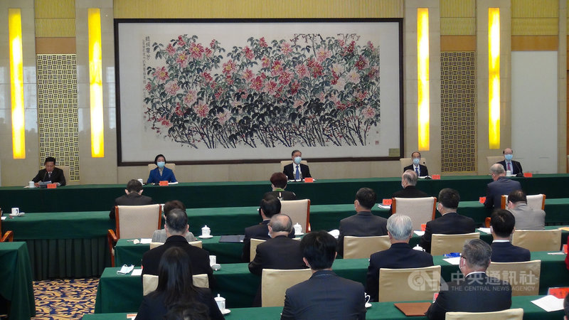 北京官方22日舉行台灣光復75週年研討會,兩岸與會者一致鼓吹促統論調。中央社記者邱國強北京攝  109年10月22日