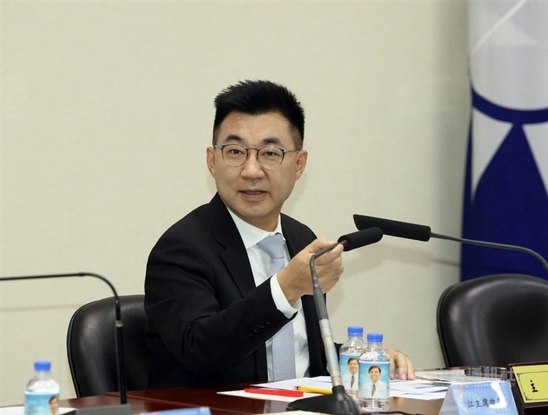 國民黨內傳出要拱黨主席江啟臣角逐下屆桃園市長,江啟臣24日說,這個想像力太豐富,「我沒有想過」。(中央社檔案照片)